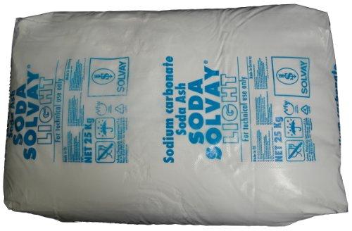"""25kg Soda Pulver (Waschsoda Natriumcarbonat Na2CO3 """"Soda leicht""""), techn. Qualität, Sackware, versandkostenfrei!"""