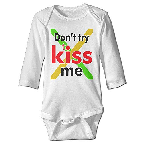 Don't Try to KISS ME Fun One Piece Baby Baby Clothing Long Sleeve Screen Print Baby Onesies Quality One Piece 12M Screen Print Romper