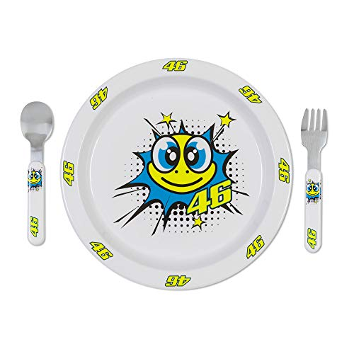 VR46 Valentino Rossi Pop Art Baby Meal Set Kunststoff Besteck für Kinder und Kleinkinder