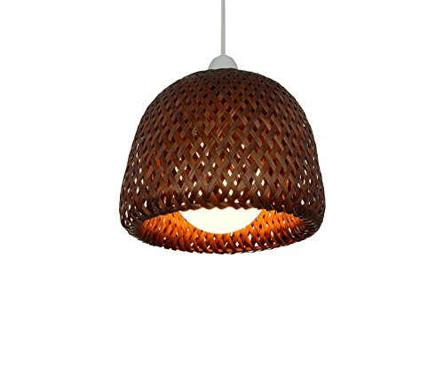 Natural wicker lamp shade factory buy natural wicker lamp shade 820cm brown wicker double dome bamboo lampshade pendent lamp shade mozeypictures Gallery