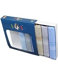 S4S Men's 100% Cotton Premium Collection Handkerchiefs - Pack of 6 (Multicolor_46X46 CM)