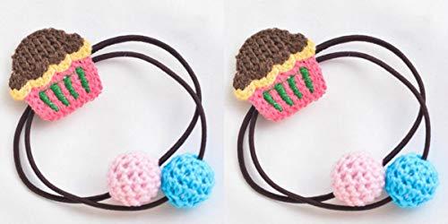 (MwaaZ Kosmetik Haarschmuck Persönlichkeit Haarband Kind Cartoon Haar Seil Mädchen Kuchen Form Gummiband (Kaffee))