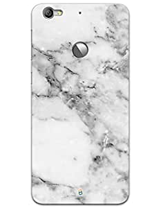 LeTV Le 1s Cases & Covers - White Marble Case by myPhoneMate - Designer Printed Hard Matte Case - Protects from Scratch and Bumps & Drops.