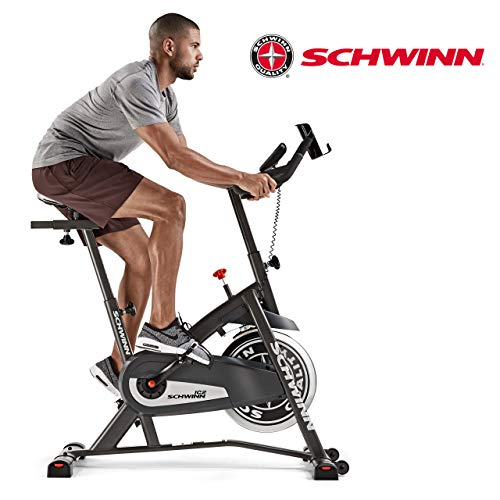 Schwinn Performance Lenker Speedbike IC2i Fitnessbike, Trinkflaschenhalterung, Transportrollen