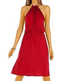 Bestyledberlin Damen Kleider Abiballkleid Abendkleid Neckholder knielang rückenfrei k20p
