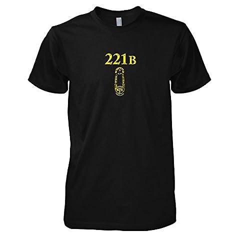 TEXLAB - Sherlock Baker Street - Herren T-Shirt, Größe XL, schwarz (Watson Sherlock Holmes Kostüm)