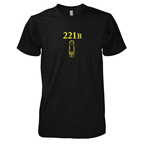 TEXLAB - Sherlock Baker Street - Herren T-Shirt, Größe XL, (Kostüme Holmes Watson Sherlock Und)