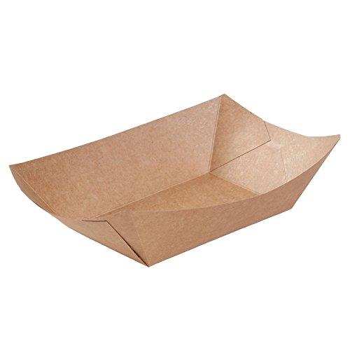 BIOZOYG Kraftkarton Schalen Fingerfood Einweg Schiffchen mit Biobeschichtung I einweggeschirr biologisch abbaubar I Servierschale Dipschälchen I to Go Snackschale 800 ml 500 Stück