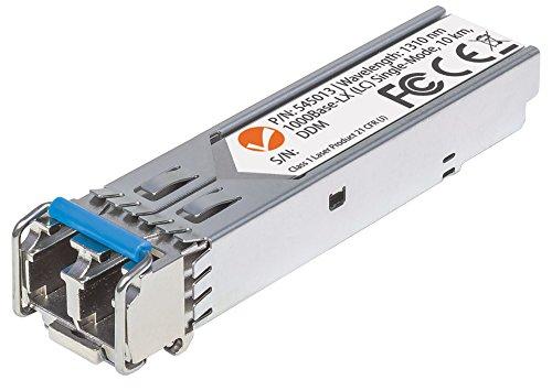 Intellinet 545013 Gigabit SFP Mini-GBIC Transceiver für LWL-Kabel (1000Base-LX (LC) Singlemode-Port 10 km) - Hot Pluggable Single