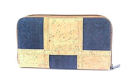Cork VEGAN Zipper Wallet for Woman ECO-FRIENDLY by Dux Cork GENUINE PORTUGUESE PREMIUM Cork Fabric 100% QUALITY GUARANTEE