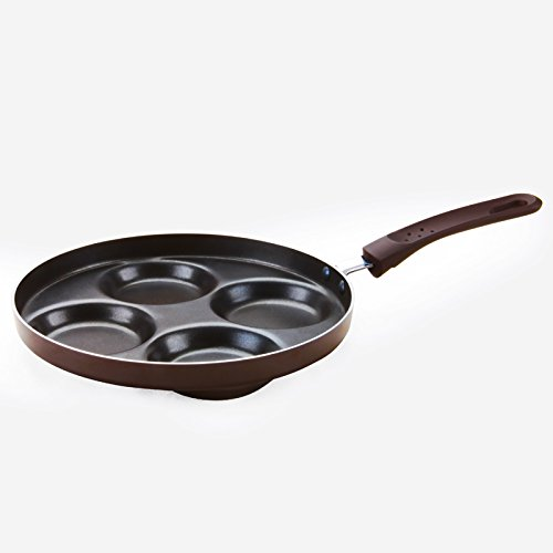 Miniinthebox cuatro agujeros antiadherente Huevo Frito sartén 24cm sartén de cocina (innovadora y elegante diseño