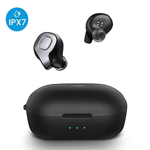 Bluetooth Kopfhörer In-Ear Kabellos YATWIN, True Wireless Kopfhörer Sport IPX7 Wasserdicht Mikrofon (Musik und Telefonieren, bis zu 8-9 Std Akkulaufzeit mit Kopfhörer) Sprachsteuerung für Siri/Google - Beats Wireless Earbuds