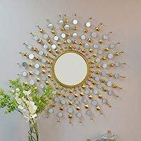 Furnish Craft Glass Wall Mirror (24 x 24 inch, Gold)