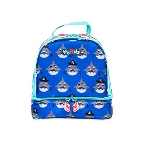 ytes Double Decker Insulated Lunch Bag, Sharks Schulranzen, 21 cm, Blau (Blue, Multicoloured) ()