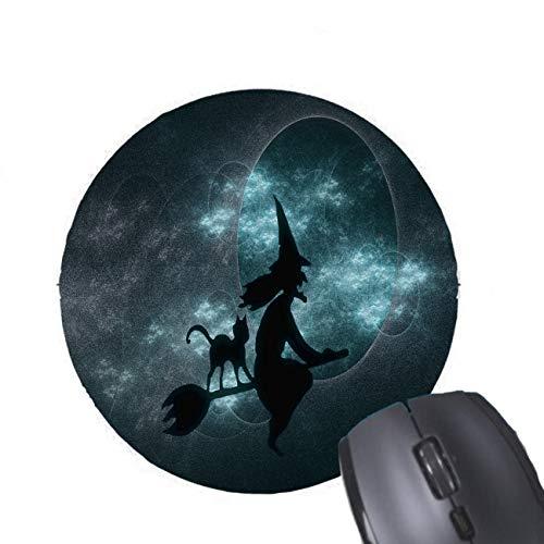 Furchtsame Halloween-Hexen-runde Mausunterlage
