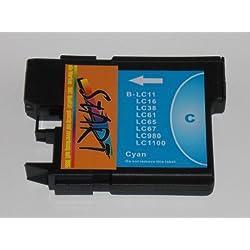 Start - Ersatz Patrone kompatibel zu LC-985 C, Cyan für Brother