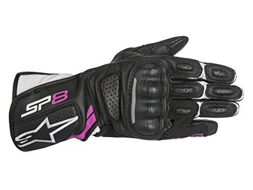 Alpinestars 1694380303 Motorrad Handschuhe Schwarz/Weiss/Fuchsia M