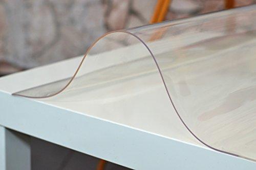 PVC Tischfolie Schutzfolie Tischdecke Tischschutz Glasklar Breite: 70 cm, Tischfolie:90cm