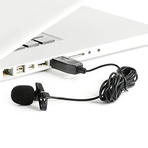 nic ULM5 Lavalier Revers Clip-on Omnidirektionale Kondensator Mic für Laptop PC Computer Mac, ideal für Interviews, Audio Video Youtube Aufnahme, Karaoke, MSN, Skype, Internet ()