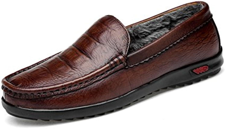 Easy Go Shopping Lederschuhe Klassische Herren Driving Penny Loafers beiläufige Slip on Boot Mokassins GummisohleEasy Go Shopping Lederschuhe Klassische