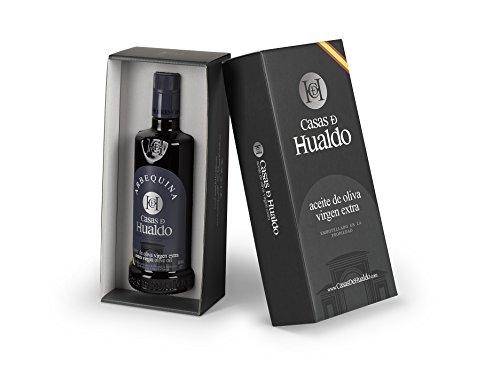 CASAS DE HUALDO - Estuche regalo 1 botella Aceite de Oliva Virgen Extra ARBEQUINA