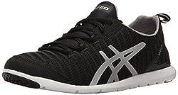 ASICS Womens Metrolyte Lightweight Running Shoes Black/Aluminum/Silver 6.5 B(M) US