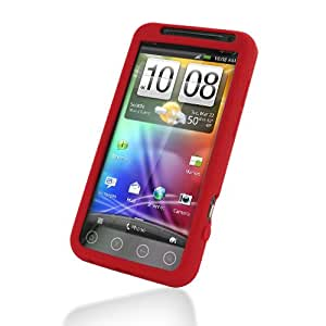 PDair Luxury Silicone Case for HTC EVO 3D PG86300 (Red)