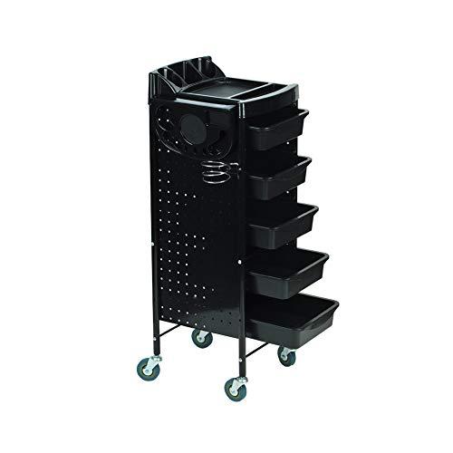Friseursalon Mit 5 Schubladen Salon Friseur Aufbewahrungsbox Beauty Spa Rolling Storage Cart Schwarz - 5 Schublade Storage Cart