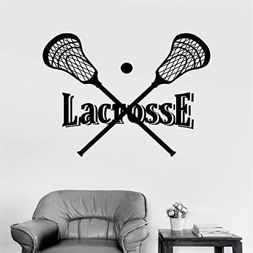 n langer Hockeyschläger und Ballsportler Sportaufkleber grün 114x147cm ()