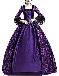 ac1b576efc0b Costume da Regina Medievale Donna Vittoriano Abito da Sera Gotico  Rinascimentale Eleganti Vestito