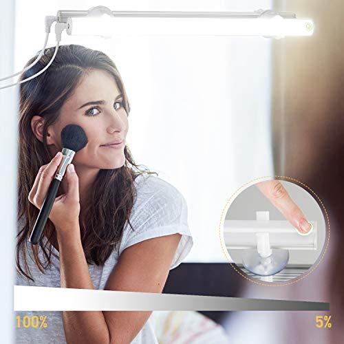 Kohree LED Spiegelleuchte USB Dimmbar Schminklict Make-up Licht Spiegellampe Kosmetiklampe Tageslichtlampe LED Leiste Tageslichtweiß 6500k 6W für Badezimmer Schrank Küche Unterwegs,Energieklasse A+ - 6-lampe-eitelkeit Licht