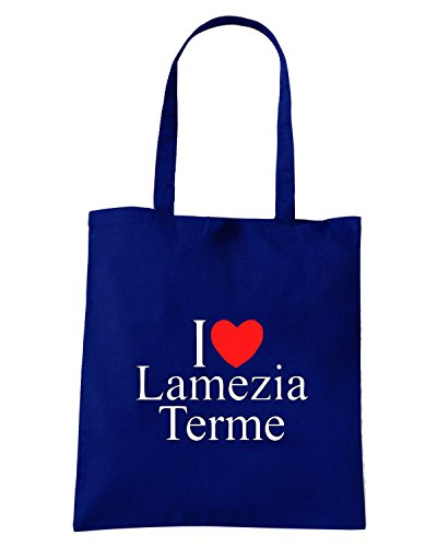 T-Shirtshock - Borsa Shopping TLOVE0080 i love heart lamezia terme Blu Navy