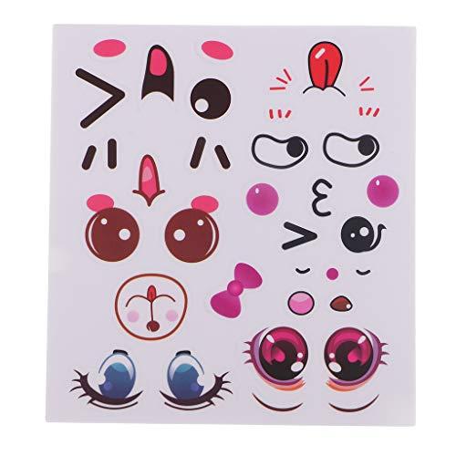 (D DOLITY 10 Stück PVC Cartoon Aufkleber Selbstklebende Aufkleber Augen für Schule und Weihnachte)