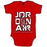 Body bebé Aerolíneas Jordan bienvenidos al vuelo número 23 Andrés Montes - Rojo, 6-12 meses