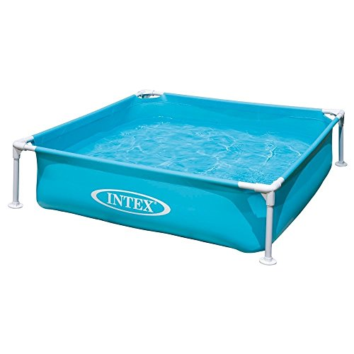Intex Kinderpool Frame Pool Mini, Blau, 122 x 122 x 30 cm -