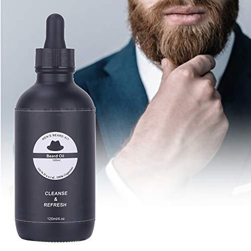 Bartöl, Soft Nourish Moisturizing Deal Mit Dry Coarse Frizz Moustache Pflegeöl Ideales Geschenk für Männer 120ml -