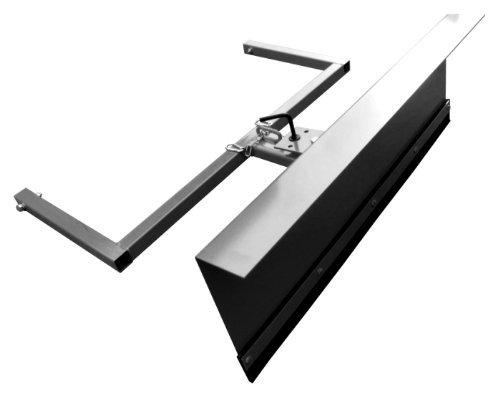 Schneeschild für Aufsitzmäher / Stahl Gekantet / 150 cm breit / 40 cm hoch / Schwarz / Schwenkbares Schild / Wechselbare Gummischürfleiste / Stiga Villa Park