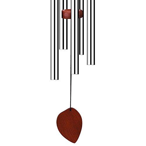 Klangspiel, Windspiel, 60cmmitS-Haken,AluminiumundHolzfürGarten - 4