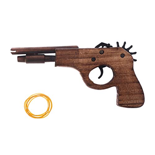 Hoiert Simulation Bullet Rubber Band Launcher Wood Gun Hand Pistol Guns Shooting Toy As The Picture Shown As The Picture Shown