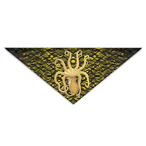 Rghkjlp Octopus Golden Pet Bandana Triangle Dog Cat Neckerchief Bibs Scarfs Accessories for Pet Cats and Baby Puppies
