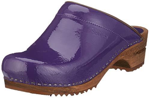 Sanita Damen Classic Patent Open Clogs, Violett (Lilac 85), 38 EU
