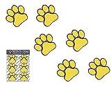 Impronte di piccoli animali giallo di cani e gatti - ST00002RD_SML - adesivi JAS