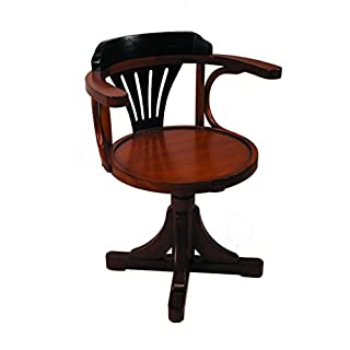 Authentic Models Purser's Chair, Black&Honey