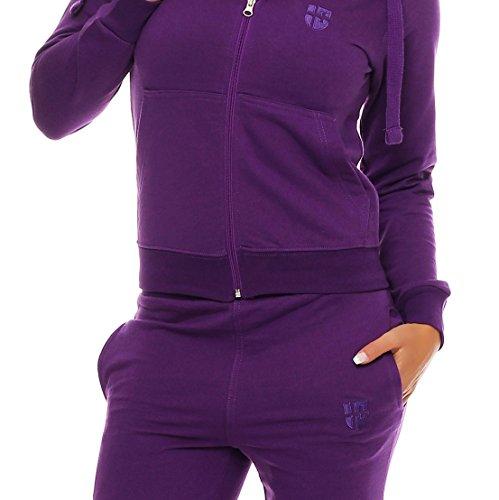 Gennadi Hoppe Damen Jogginganzug Trainingsanzug Sportanzug Lila