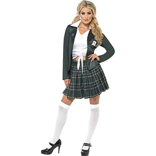 NET TOYS Schulmädchen Kostüm Damen Sexy Schulmädchenkostüm Britney M 40/42 Damenkostüm Schülerin Outfit School Girl Uniform Schuluniform (Adrette Kostüm)