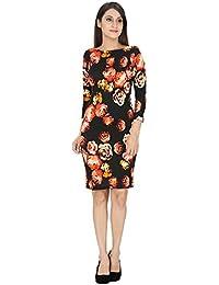 FRANCLO women's Floral print Bandage dress(Best fit 34 bust size)