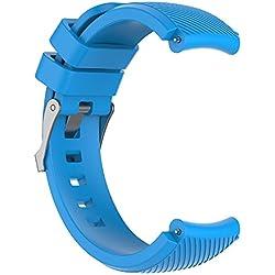 Komise - Bracelet de rechange pour montre de sport - Silicone souple - Pour montre HUAMI Amazfit Stratos Smart Watch 2 - Couleur au choix Taille unique bleu ciel