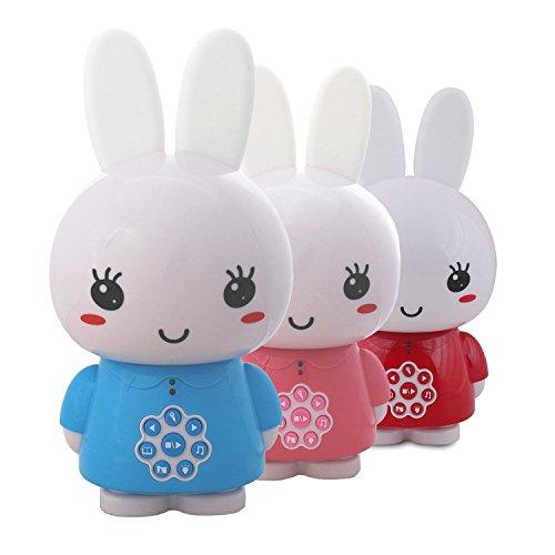 Alilo Honey Bunny Edutainment für Ihr Kind - Mediaplayer - inkl. ausgesuchter Geschichten und Lieder) Babyspielzeug Nachtlicht Storyteller Einschlafhilfe - Blau