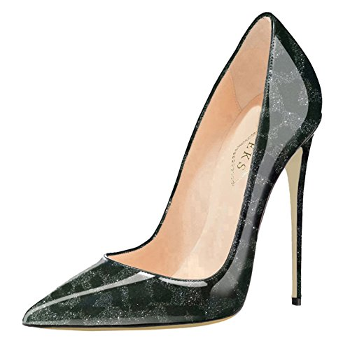 0a9e65fde1b EKS Women s Pumps High Heels Sexy Pointy Toe Dress Party Court Shoes