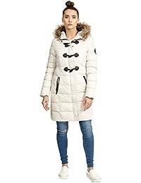 5c275e0cc914 Brave Soul Womens Long Length Baffle Puffa Faux Fur Trim Hood Parka Coat  AW1718